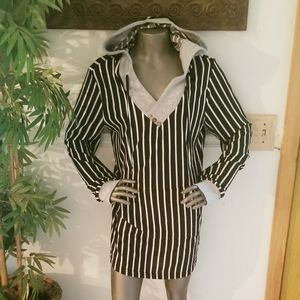NWT-MIUSEY Womens Striped Top-Lg